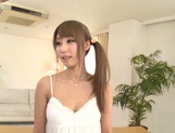 Petite busty Asian princess Shunka Ayami enjoys fucking drinks cum picture 2