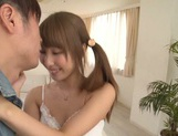 Petite busty Asian princess Shunka Ayami enjoys fucking drinks cum picture 9