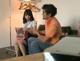 Teen Nozomi Aiuchi banged from behind and gets creampied picture 13