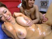 Sweet busty asian Riai Sakuragi loves softcorefucking asian, hot asian girls}