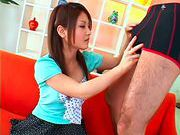 Kanna gives a blowjob to her friendasian babe, asian schoolgirl}