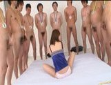 Yuma Asami Asian model gives an amazing blowjob! picture 11
