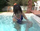 Sexy Tsubomi likes outdoor pussy stimulation scene