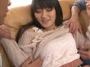 Lovely Nana Usami enjoys cock and dildo sex