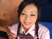 Japanese AV model gets fingered and fucked