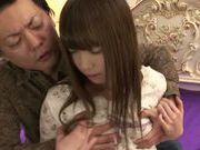 Kinky Asian teen with small tits Kaho Shinohara rides rod