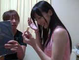 Fancy Japanese milf Moeka Nomura moans from getting orgasm picture 12