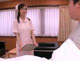 Mischievous Asian nurse Sayuki Kanno seduces her patient picture 1