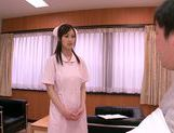 Mischievous Asian nurse Sayuki Kanno seduces her patient picture 2