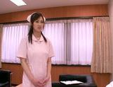 Mischievous Asian nurse Sayuki Kanno seduces her patient picture 3