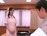 Mischievous Asian nurse Sayuki Kanno seduces her patient picture 4