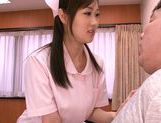 Mischievous Asian nurse Sayuki Kanno seduces her patient picture 9