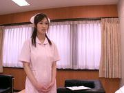 Mischievous Asian nurse Sayuki Kanno seduces her patient