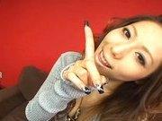 Misa Tsuchiya Asian model gets full of cum when she is having sex