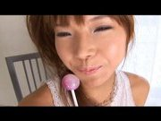 Serina Hayakaw Asian doll likes giving head to her friends