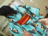 Megumi Haruka Lovely Japanese babe in costume fondles her pussy