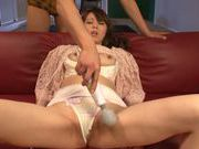 Milf with big breasts Maki Koizumi enjoys deep penetration