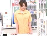 Marimi Natsuzaki Cute Japanese babe likes getting fucked in the supermarket picture 15