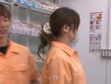Marimi Natsuzaki Cute Japanese babe likes getting fucked in the supermarket picture 5