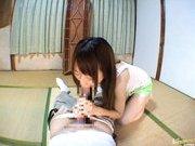 Shiori Mano Asian doll rides a huge cock