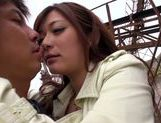 Busty japanese Haruki Satou gets pounded in outdoor picture 12