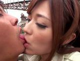 Busty japanese Haruki Satou gets pounded in outdoor picture 14