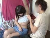 Japanese AV model amazing teen gets a cock ride