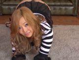 Horny Kaori fucks hot stud on the floor