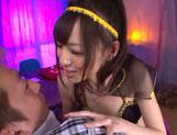 Aino Kishi opens her mouth to perform a hot blowjob picture 12