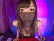 Aino Kishi opens her mouth to perform a hot blowjob