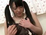 Delicious young beauty Ai Uehara fondles her wet pussy picture 13