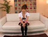 Japanese wife Ayaka Tomoda pleases two horny males picture 2