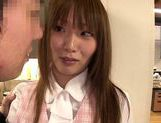 Sexy Japanese chick Hana Nonoka gets screwed in the office picture 12