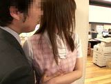 Sexy Japanese chick Hana Nonoka gets screwed in the office picture 13