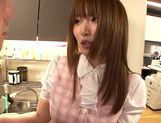 Sexy Japanese chick Hana Nonoka gets screwed in the office picture 14