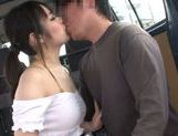 Beautiful Japanese AV hottie Ruka Kanae enjoys car sex