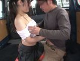 Beautiful Japanese AV hottie Ruka Kanae enjoys car sex