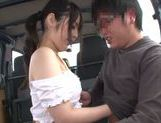 Beautiful Japanese AV hottie Ruka Kanae enjoys car sex picture 8
