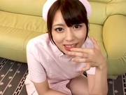Beautiful Japanese nurse Ayu Sakurai shows off cumshot in her mouthcute asian, japanese sex}