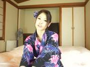 Busty Asian hottie Minami Ayase is a lustful solo girl