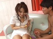 Miina Naughty Asian gal gets a hard fucking