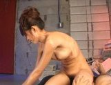 Rukia Mochizuki Asian model enjoys a rear fucking