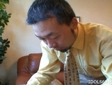Sayoko Kuroki Naughty Asian babe Gets her Pussy Poked With A Dildo