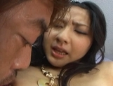 Megumi Haruka Asian chick gives a blowjob then a fucking