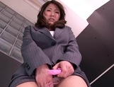 Busty office babe is needy to masturbate her pussysexy asian, asian women}