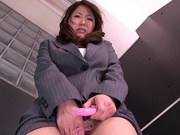 Busty office babe is needy to masturbate her pussyasian wet pussy, horny asian}