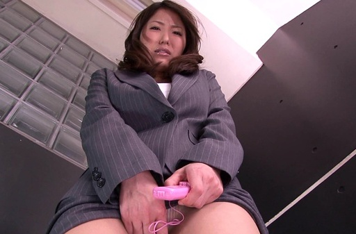 Busty office babe is needy to masturbate her pussy
