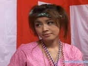 Yuzuru Japanese beauty enjoys lots of hard sex