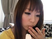 Shiori Mano Hot Japanese babe sucks a huge cock