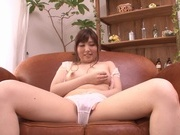 Chubby milf Erina Yazawa shows off on camasian pussy, asian ass}